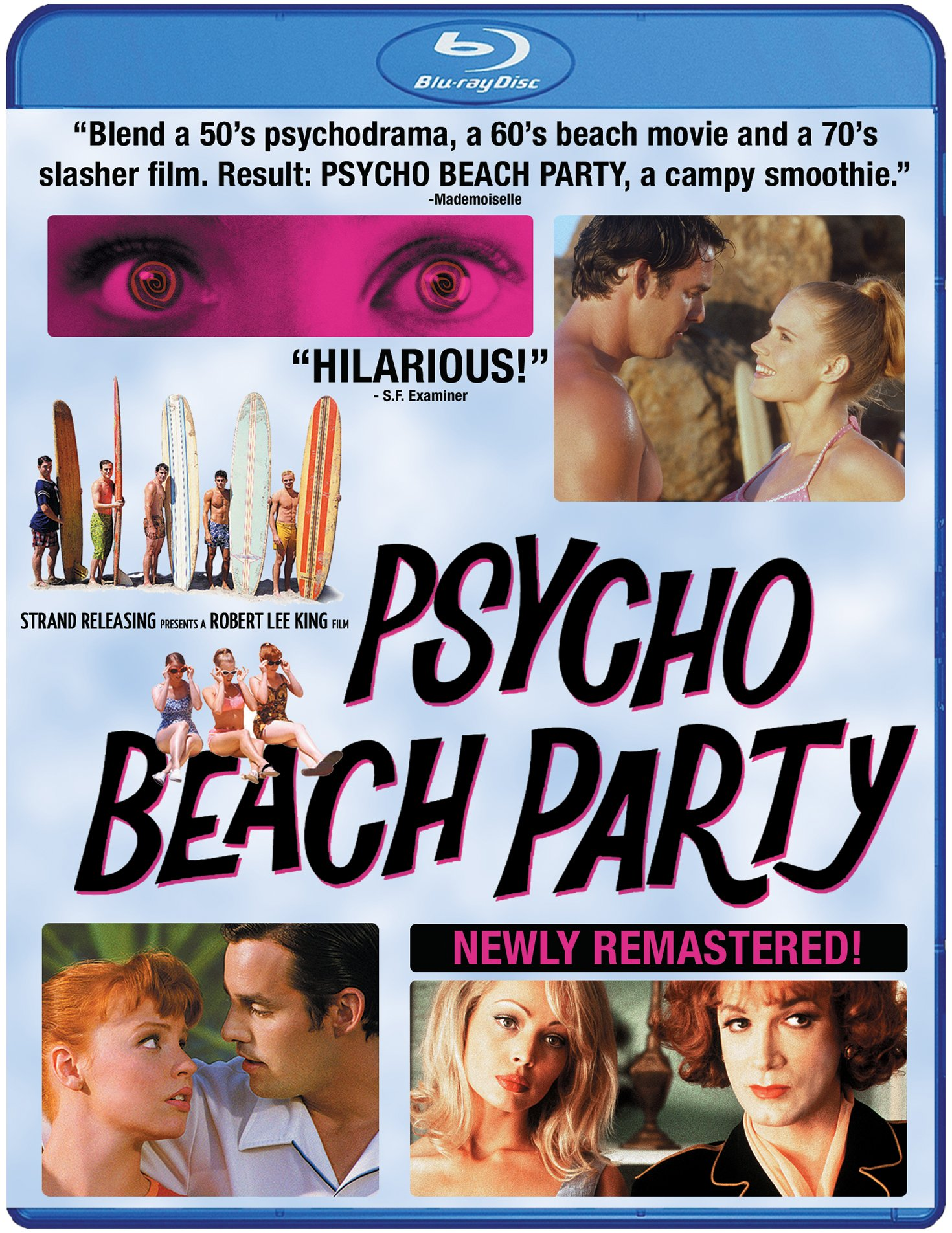 Blu-ray : Psycho Beach Party (Remastered, Widescreen, Digital Theater System, Digitally Mastered in HD)