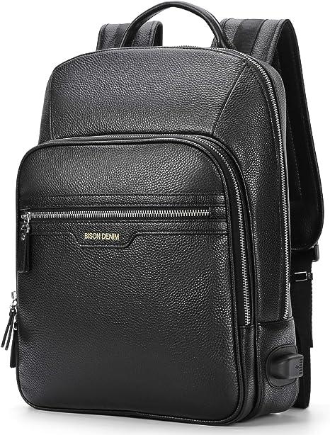 Leather Bag Real Backpack Travel Rucksack Handmade S Men Vintage New Laptop 2pcs