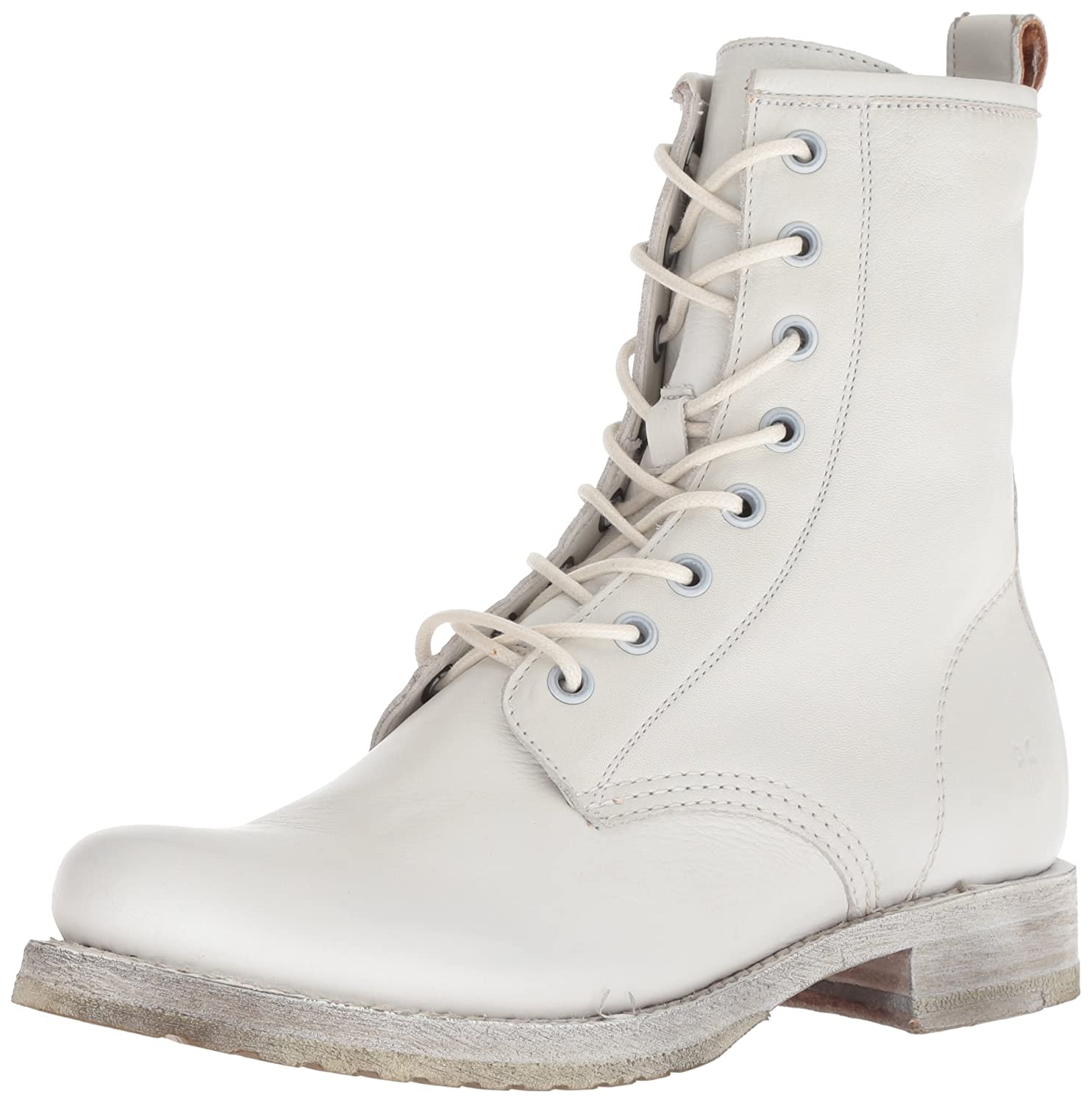 White Frye Women's Veronica Combat Ankle Boot