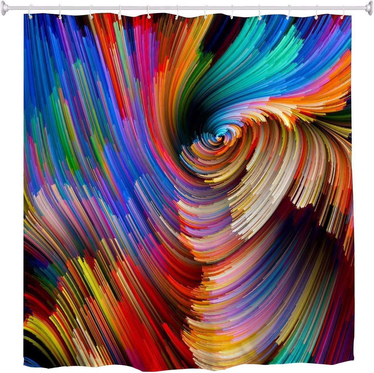 A.Monamour Bleu Ciel Nuages Blancs Aquarelle Pantoufles /Ét/é Plage Tongs /Étoile De Mer Image Imperm/éable /À leau Polyester Tissu Rideau De Douche Ensemble avec Crochets pour Salle De Bains 150x180cm