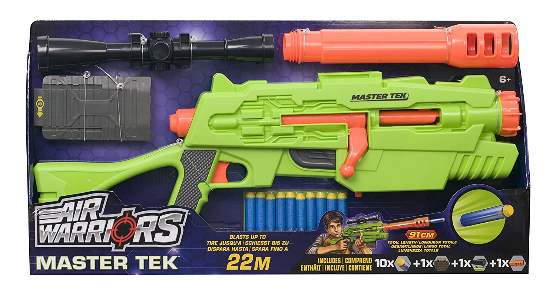 Alex Brands BuzzBee Ultra-tek Master tek- kompatibel mit Nerf Darts & Magazinen: Amazon.es: Juguetes y juegos