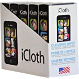 iCloth Lens and Screen Cleaner | 5 x 30 wipe pack display(each wipe 9cm x 13cm - 1 ml fill)For use on Glasses, Chromebooks, Tablets, Smartphones, Sunglasses, Eyeglasses, Cameras and other Electronics