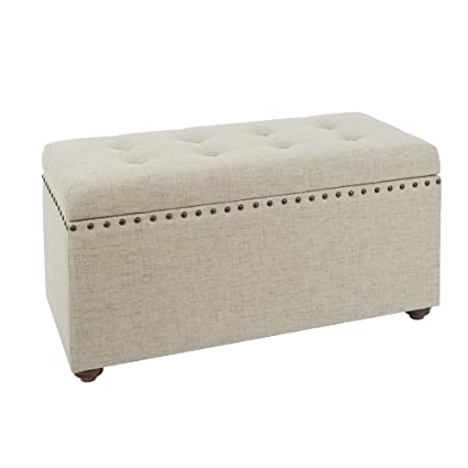 Attrayant Silverwood Penelope Nail Head Storage Bench In Tan