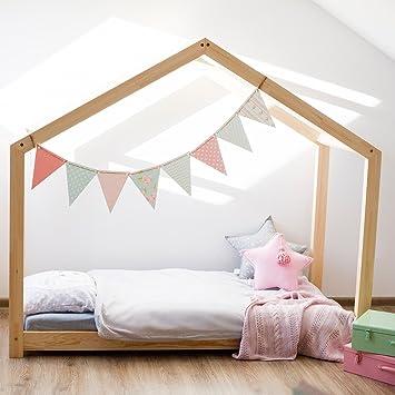 Oliveo Hausebett Kinderhaus Bett Fur Kinder Kinderbett Massivholz