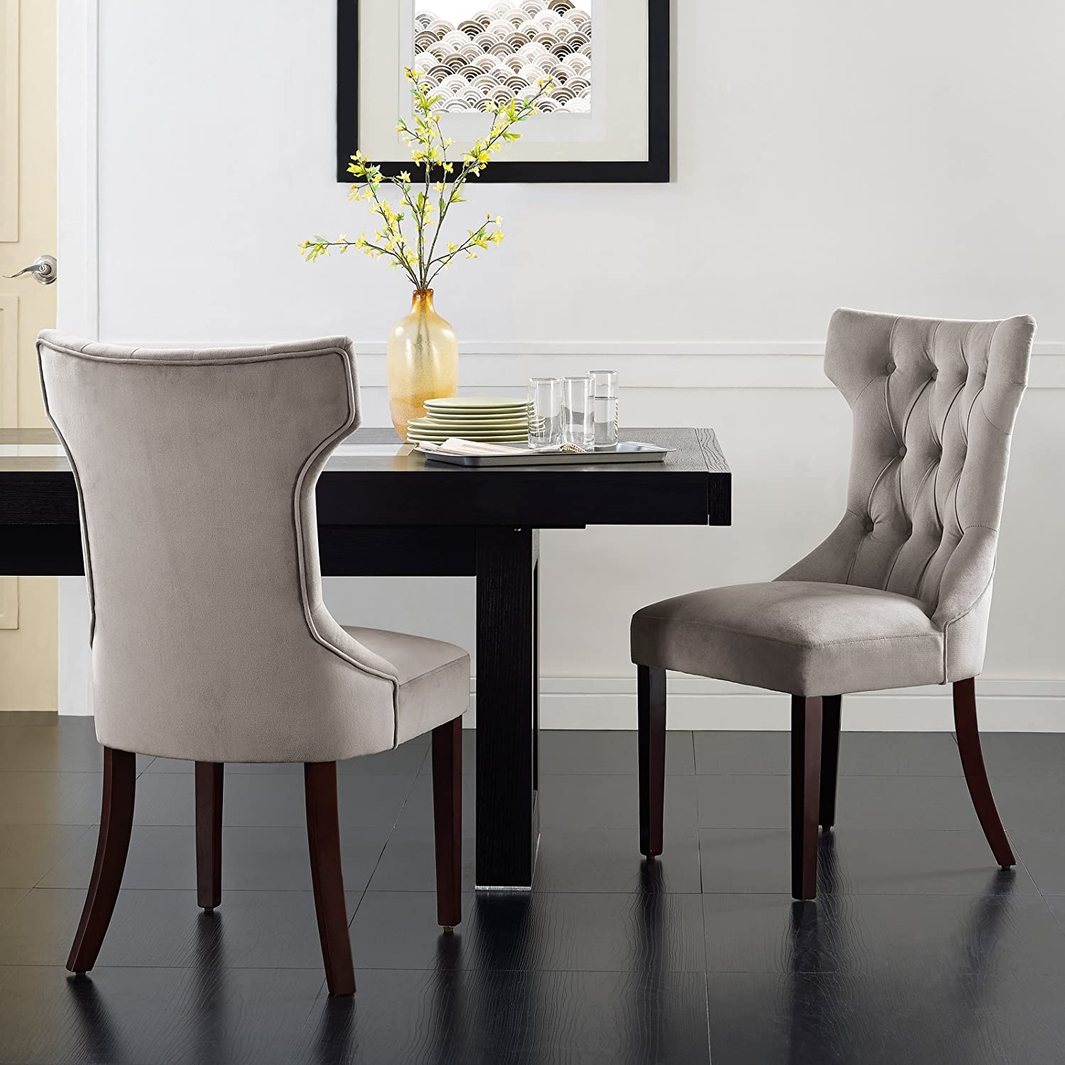 Amazon.com - Luxury and Elegant Tufted Dining Chair, Set of Two