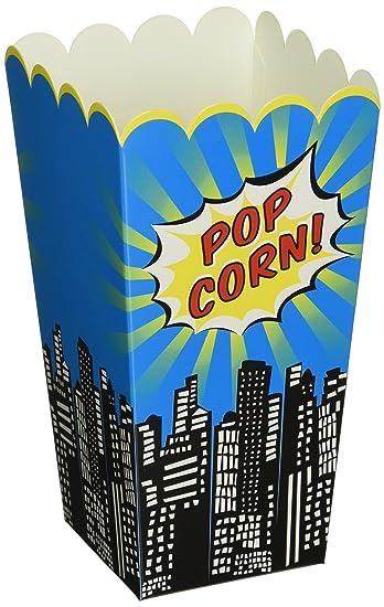 8 ginger ray popcorn boxes pop art superhero party
