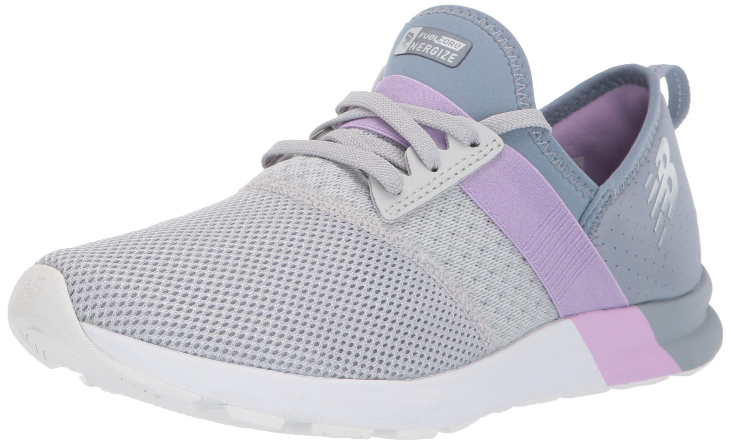 New Balance Women's FuelCore Nergize V1 Sneaker, Light Aluminum/Reflection/Dark Violet, 5 B US