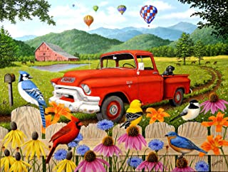 product image for The Red Truck 500 pc Jigsaw Puzzle by SUNSOUT INC