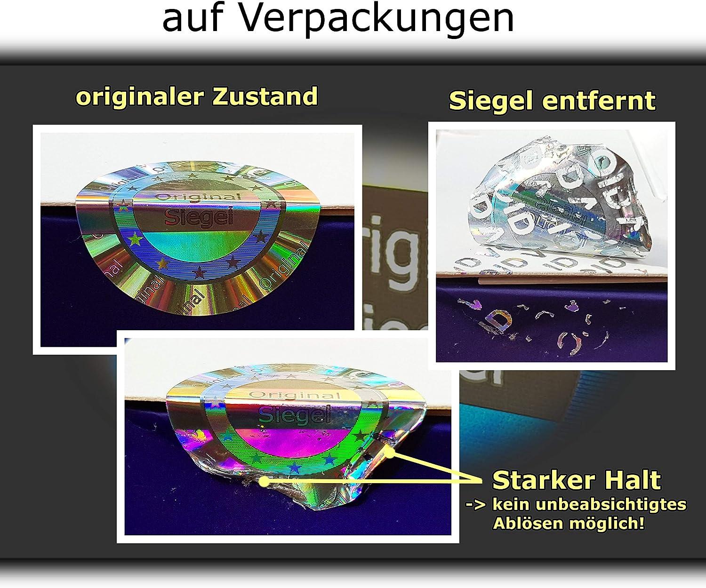 25 mm sigillo di garanzia antifurto sigillo di sicurezza argento lucido etichetta autoadesiva Sigillo 3D ologramma originale adesivo di sicurezza sigillo di qualit/à etichette di sicurezza