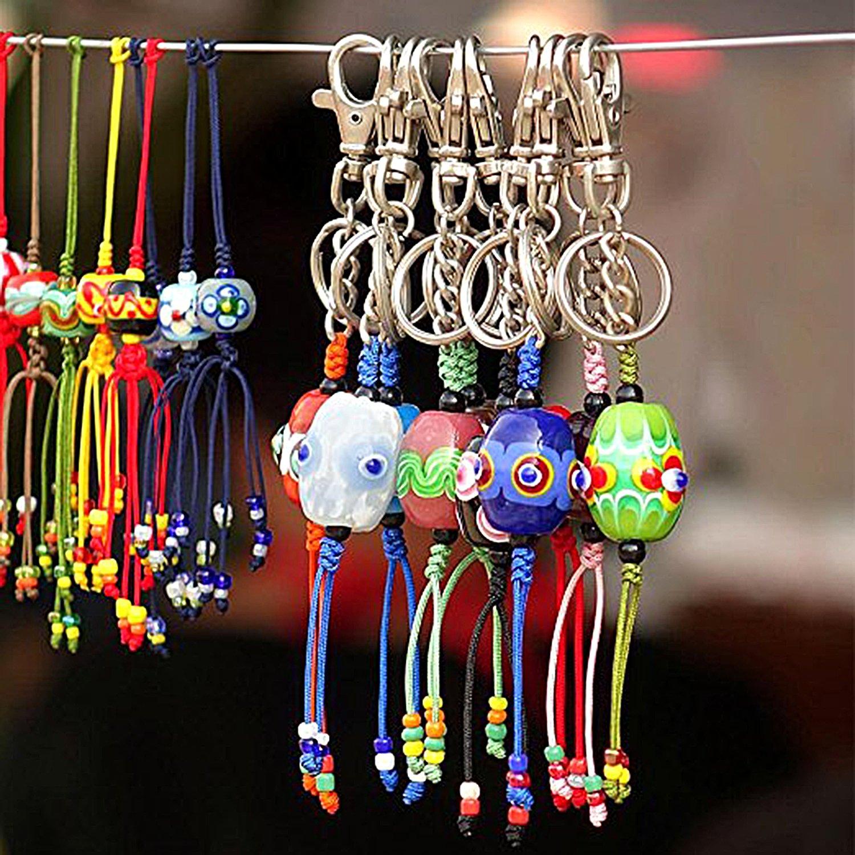 BronaGrand tama/ño peque/ño Juego de 60 clips giratorios con cierre de mosquet/ón y llaveros para bolsas bisuter/ía manualidades