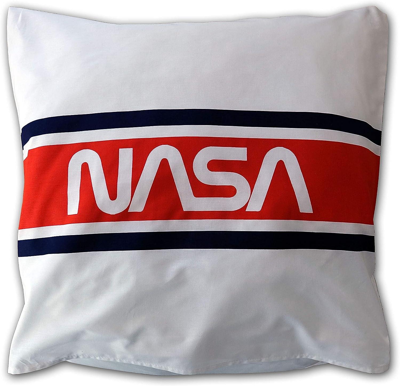 new discount Housse de Couette NASA en Coton en Blanc