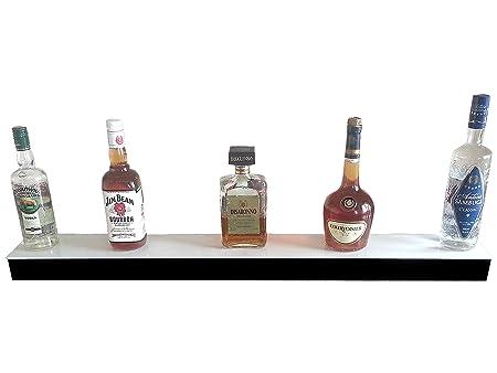 LED Lighted Bar Shelf Liqueur Bottle Display Shelving Stand