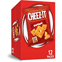 Cheez-It, Original Cheese Crackers, Single Serve, 1 oz Bag, Pack of 12
