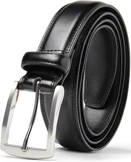 Mens Blts Genuine Full Grain Leather Black Snap On Belts Handmade cattle leather
