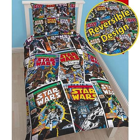 Copripiumino Star Wars.Star Wars Tema Fumetti Copripiumino Letto Singolo Reversibile