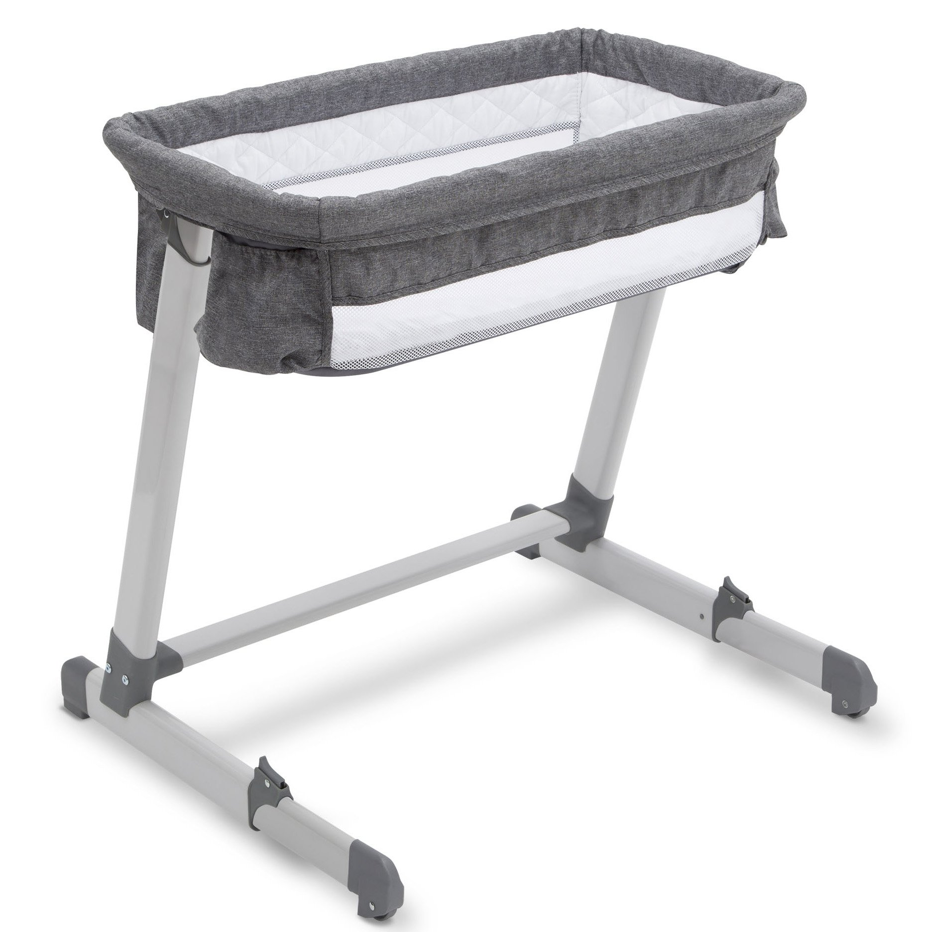 Simmons Kids by The Bed City Sleeper Bassinet, Grey Tweed