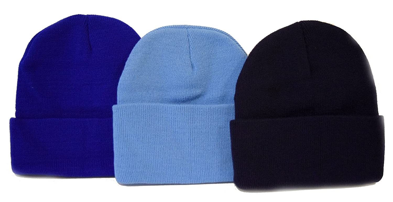 Black Friday / Cyber Monday Deal 3 Pack Knit Beanies Navy, Royal, & Sky