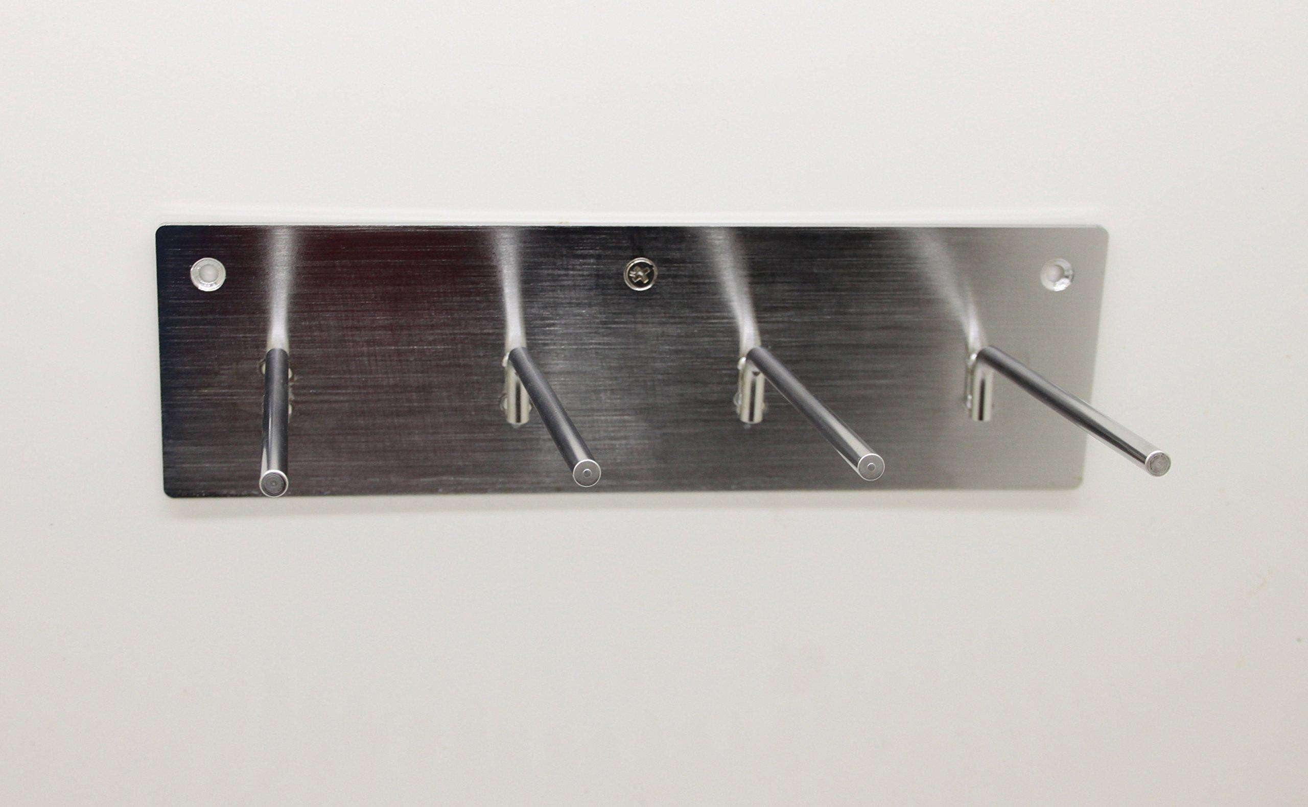 FixtureDisplays Set of 3 4-PEG Lead Apron Wall-Mount Hook Hanger 15686