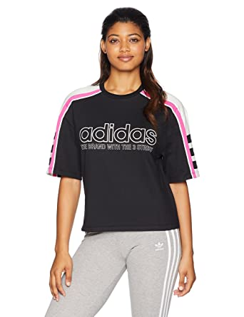 e1cbbd39e adidas Women's Racing Aa-43 Cropped Tee at Amazon Women's Clothing store: