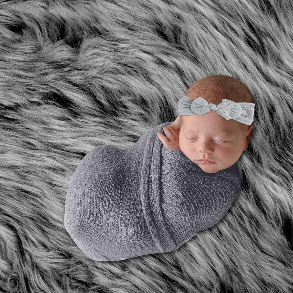 alfombrilla para ni/ños y ni/ñas gris gris manta para fotograf/ía de reci/én nacido manta para fotograf/ía de reci/én nacido DaMohony Juego de accesorios para fotos de beb/é