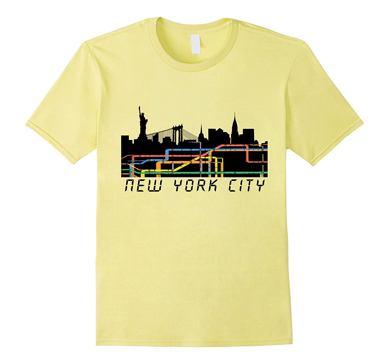 Nyc Subway Map T Shirt.New York City Subway Map T Shirt Nyc Skyline Tee Th