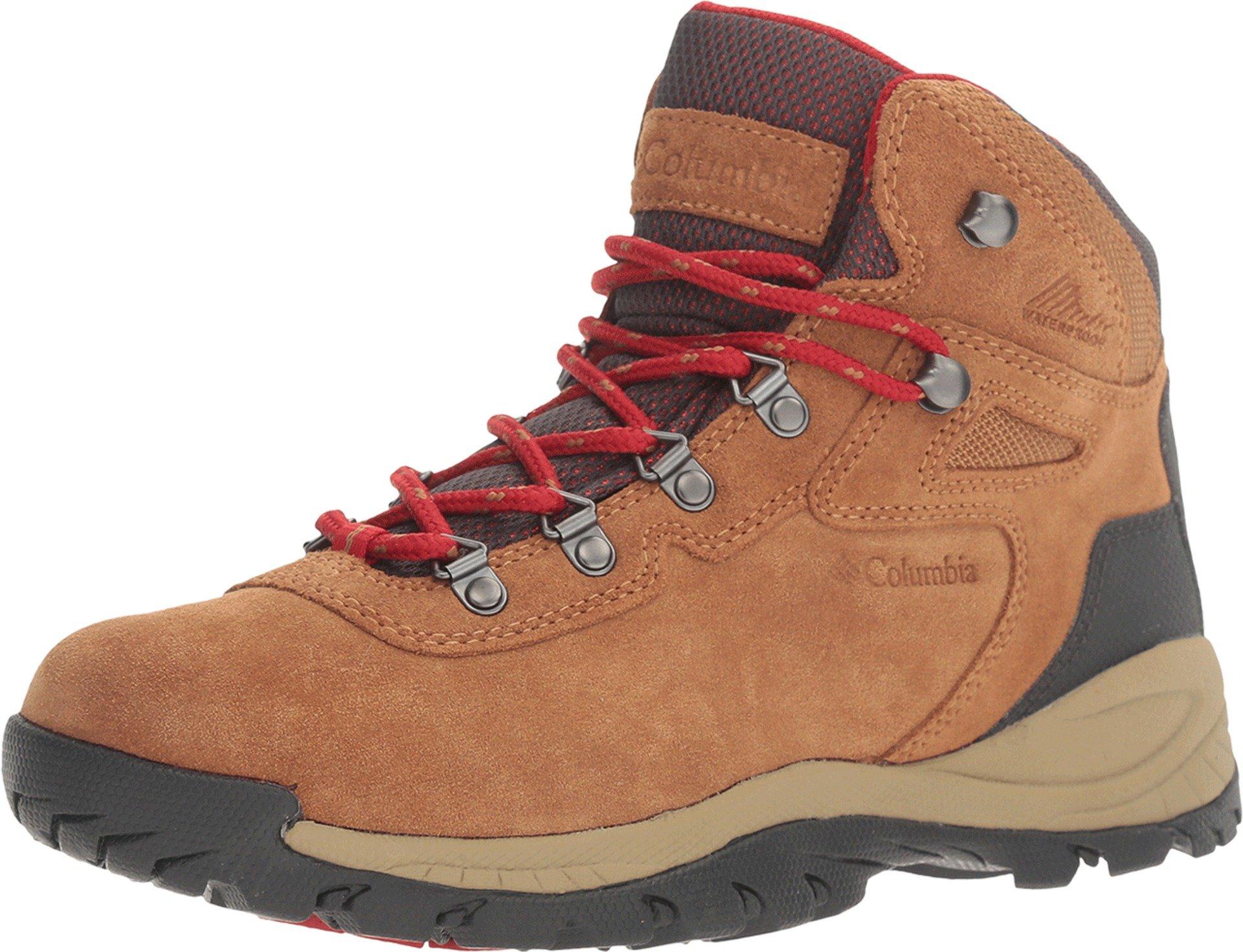 Columbia Women's Newton Ridge Plus Waterproof Amped Hiking Boot, Elk, Mountain Red, 5 Wide US by Columbia