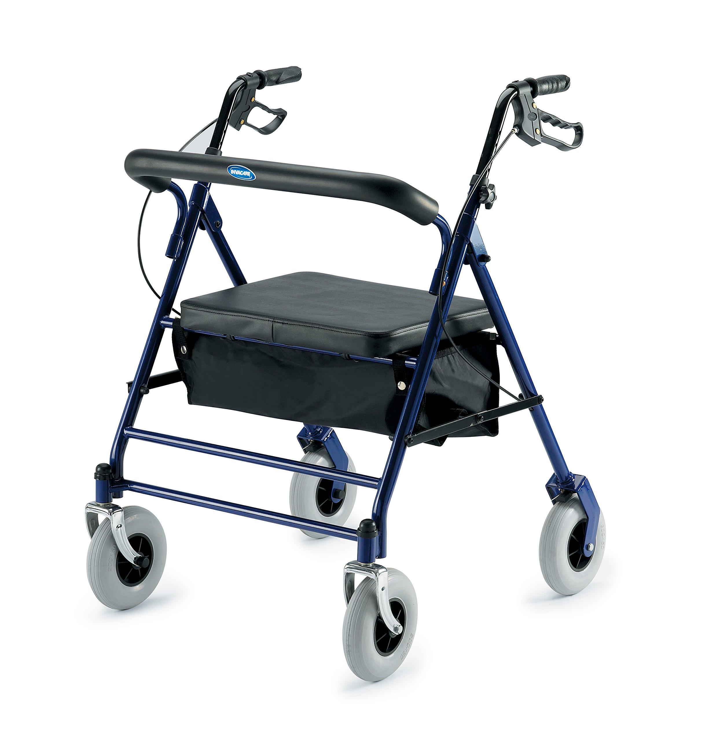 Invacare 66550 Bariatric Rollator 500lb Capacity Flip-Up Padded Seat