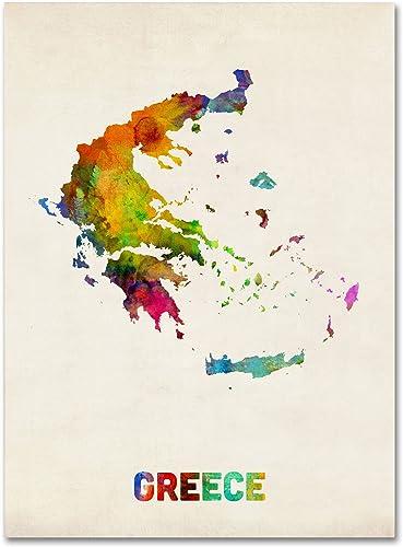 Greece Watercolor Map