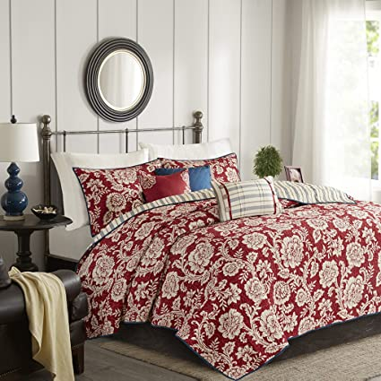 Amazon Madison Park Lucy Kingcal King Size Quilt Bedding Set