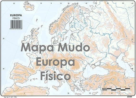 Mapa Mudo SELVI Color Din-A4 Europa Físico, Caja x50: Amazon.es ...