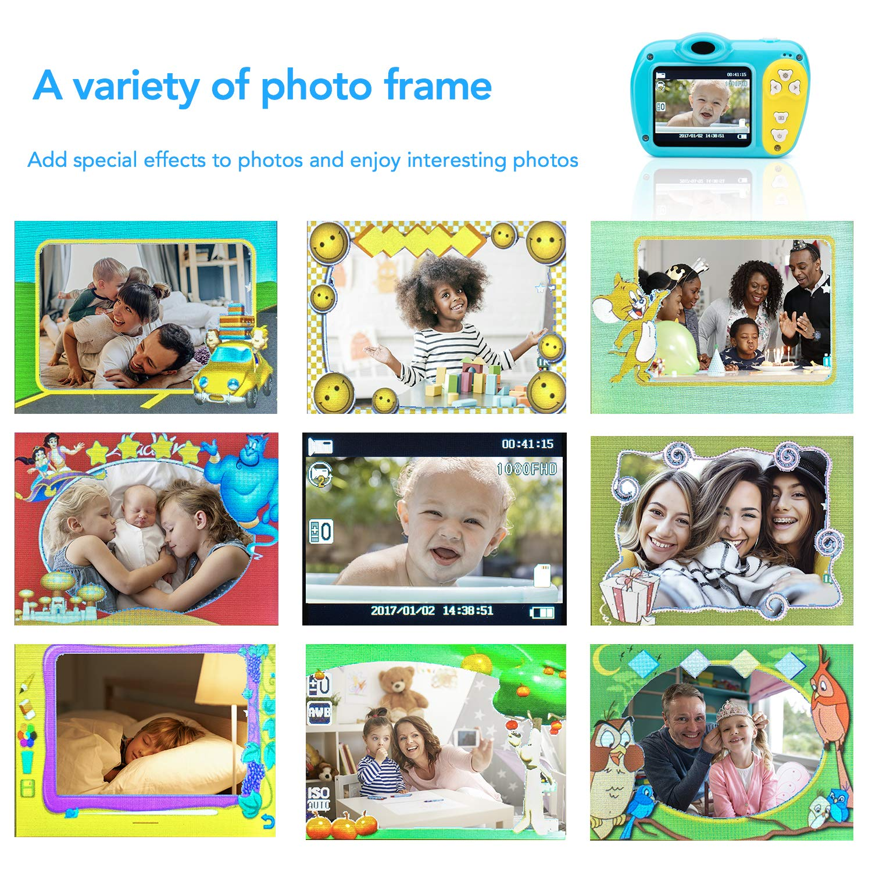 SIKVIO Mini 2.0 Inch Screen Kids Childrens Digital Camera,1080P HD Mini Digital Video Recorder Camcorder Camera with Loop Recording 16GB Cards for Boys Girls by SIKVIO (Image #6)