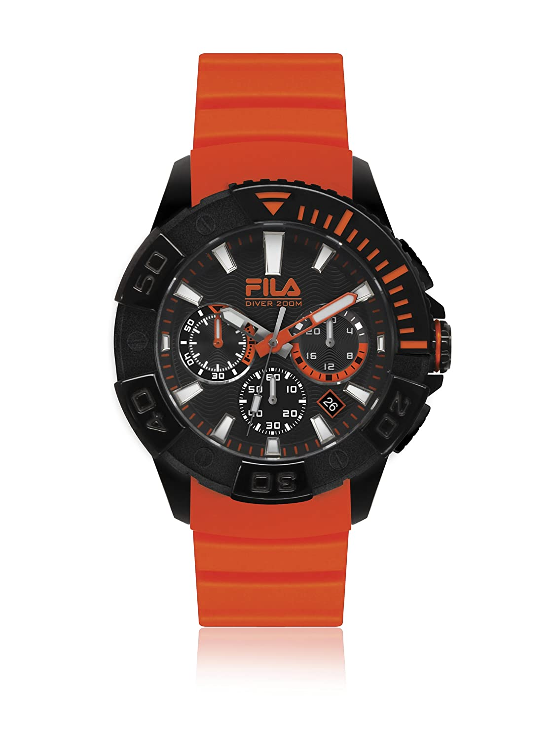 Fila Diving Orange Analog Dial Men's Chronograph Watch - 38-040-002