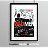 Mad Men Cast Signed Autograph Signature Autographed A4 Poster Photo Print Photograph Artwork Wall Art Picture TV Show Series Season DVD Boxset Memorabilia Gift (BLACK FRAMED & MOUNTED)