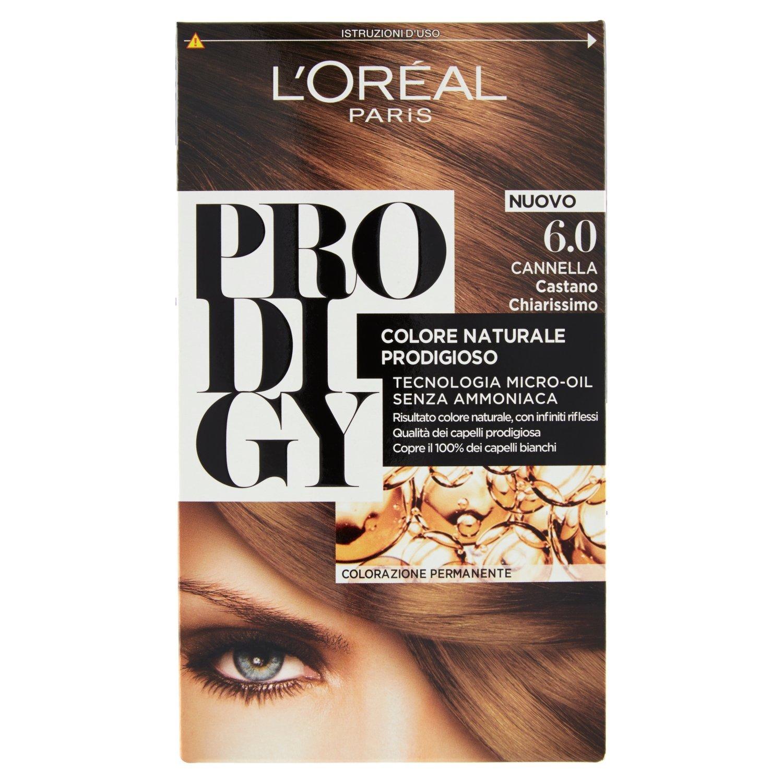 L'Oréal Paris Prodigy Colorazione Permanente senza Ammoniaca, Risultato Colore Naturale, 7.31 Nocciola Biondo Dorato A7979500