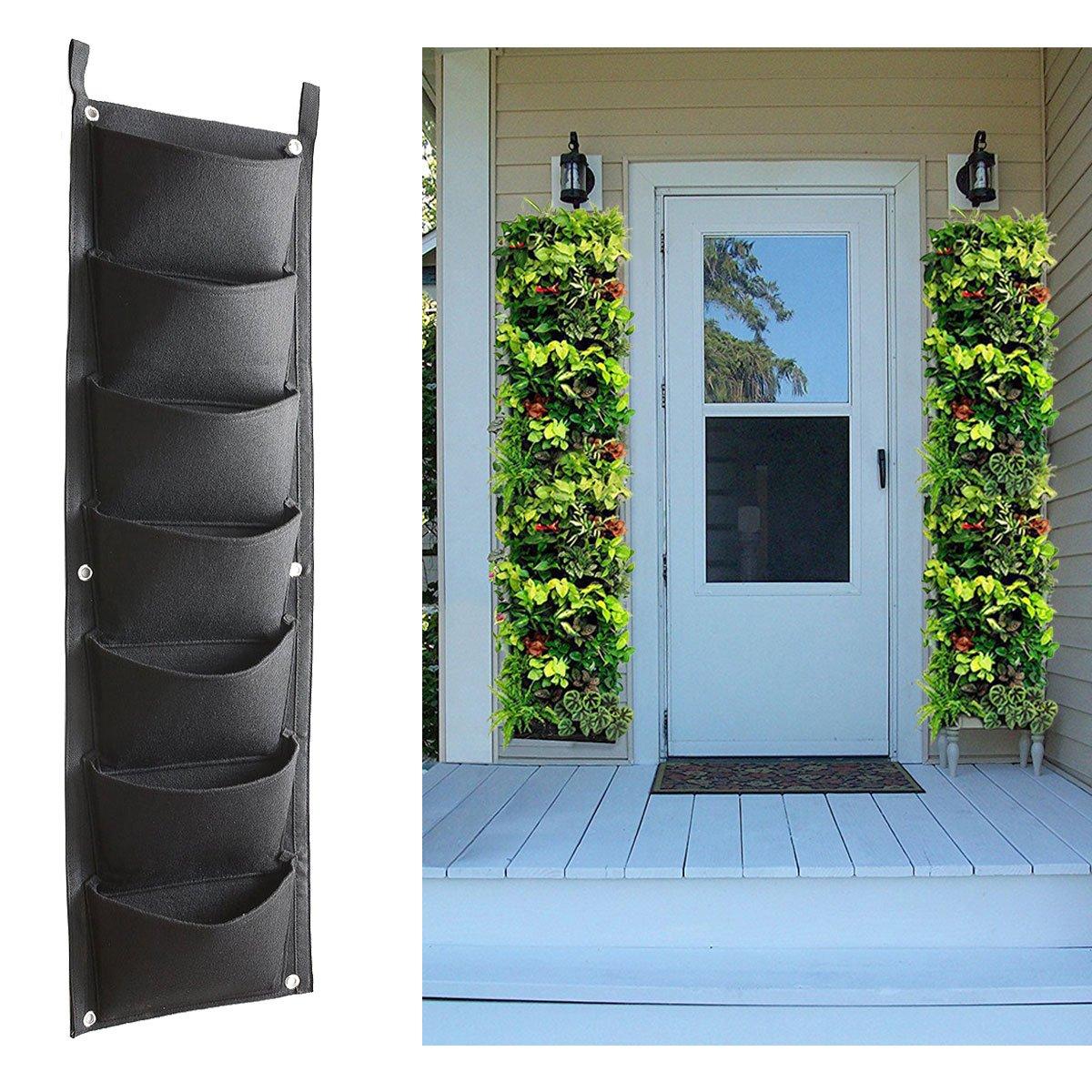 Amazon.com: Vertical Garden Hanging Planter, 7 Pockets, Wall Hanging ...