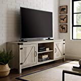 """Walker Edison Furniture Company Modern Farmhouse Barn Wood Stand with Cabinet Doors TV's up to 80"""" Living Room Storage…"""