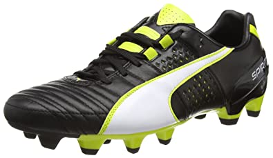 PUMA Mens Firm Ground Soccer Cleats Spirit II FG Leather Football Boots -Black-10.5 c3bd30913
