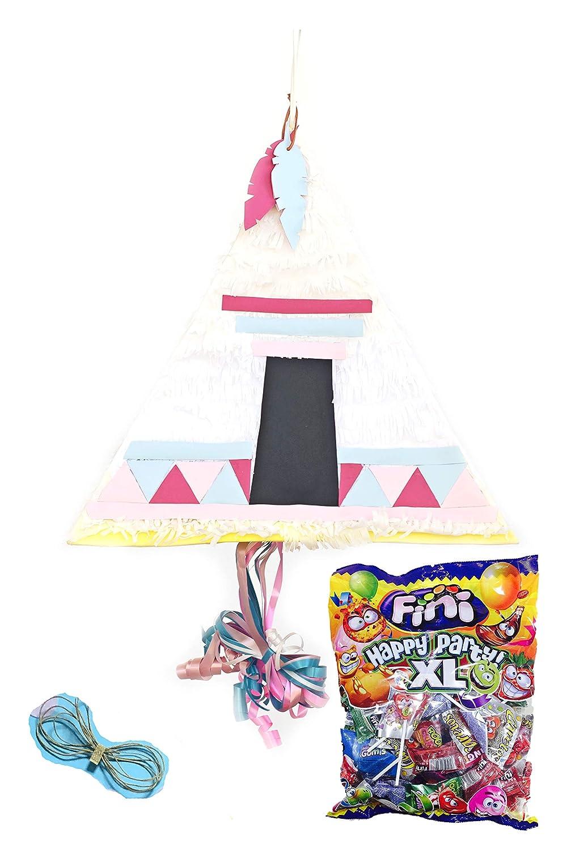 ery & Lola Party Deco PIÑATA NIÑA TIPI ROSA 40*39 Cm, PIÑATA NIÑA, PIÑATA COMUNION: Amazon.es: Juguetes y juegos