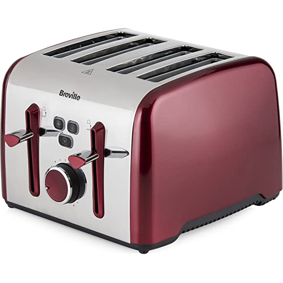 Breville Colour Notes 4-Slice Toaster - Red