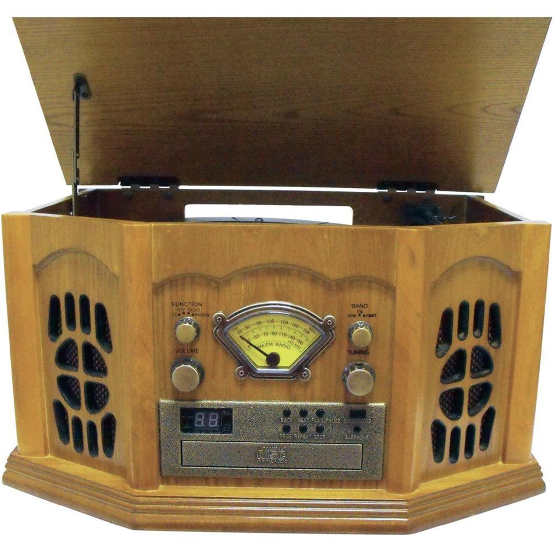 Inovalley Retro10E Minicadena retro tocadiscos CD radio USB ...