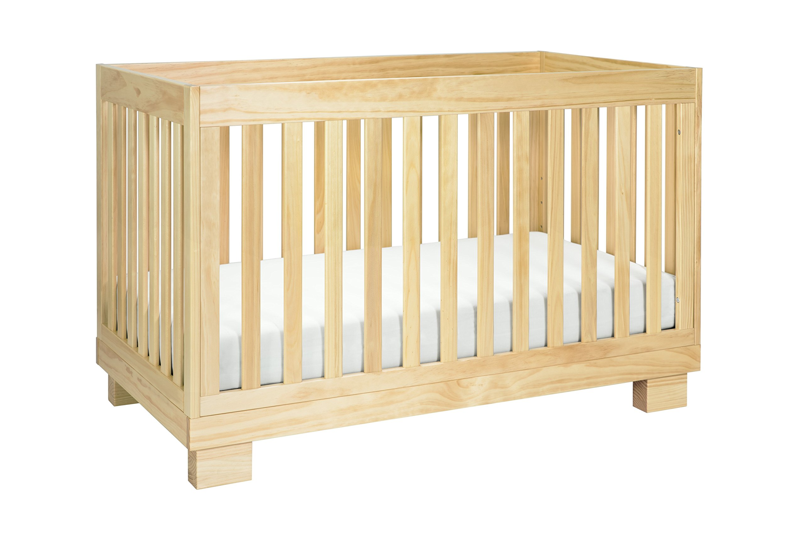 Babyletto Modo 3-in-1 Convertible Crib with Toddler Bed Conversion Kit, Natural