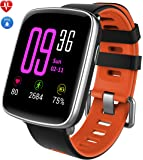 Smart Watch IP68, YAMAY Blutooth Smartwatch Impermeabile IP68 Orologio Fitness Tracker Watch Cardiofrequenzimetro da Polso Touch Screen Smart Watch Fitness Activity Tracker Cardio Pedometro Sport Nuoto Running Contapassi/Monitor del Sonno/Cronometro /SMS Avviso di Chiamata Telecomando Remoto Foto e Musica Notifiche APP Whatsapp, Facebook, Skype per Telefoni Android e iOS