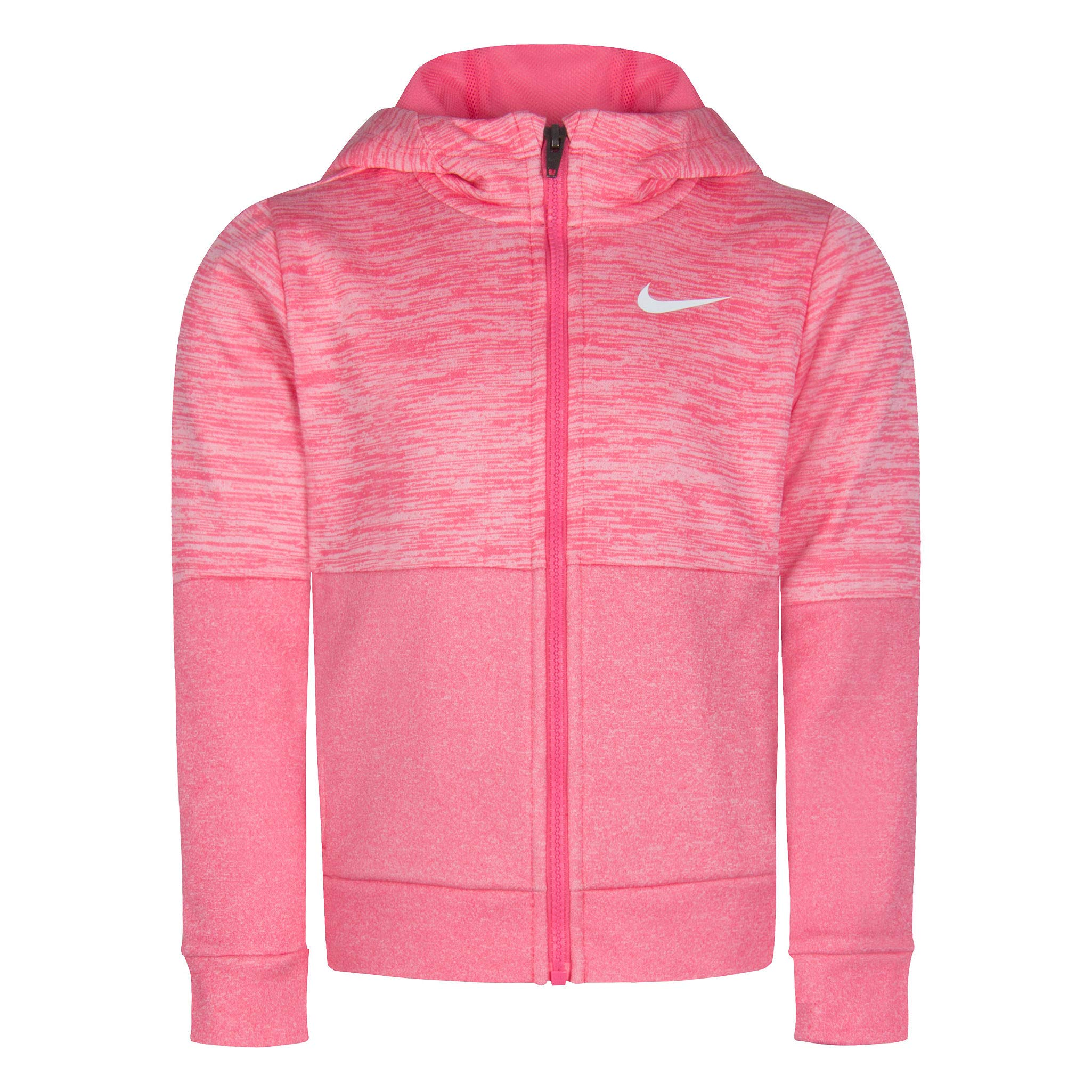 Nike Little Girls' Full Zip Dri-FIt Therma Hoodie (Pink Nebula, 4) by Nike