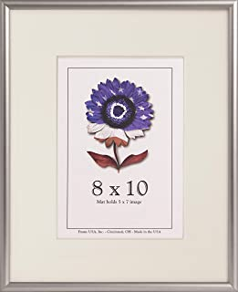 product image for Frame USA Metal 2 Series 8x10 Frames for Photos and Art (Contrast Silver)