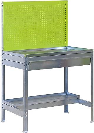 Mesa de Trabajo para Jardin BT2 Verde/Galvanizado Simonrack 1440x900x400 MMS 400 Kgs de Capacidad: Amazon.es: Bricolaje y herramientas