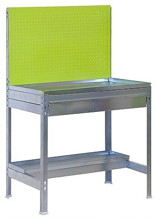 Mesa de Trabajo para Jardin BT2 Verde/Galvanizado Simonrack ...