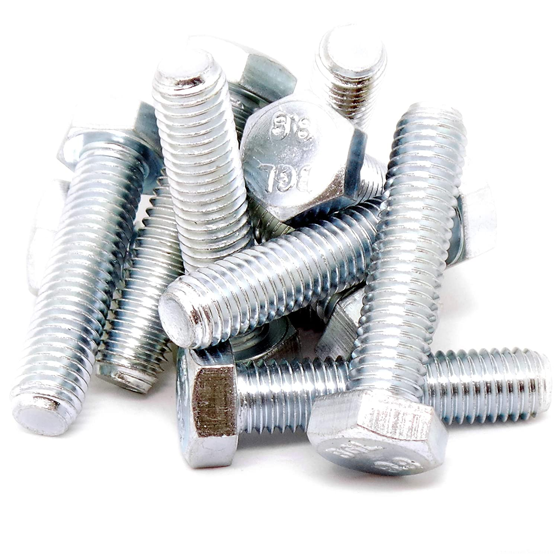 M12 (12 mm x 50 mm) Sechskant Schrauben (Vollgewinde Wirbel) –  Stahl (Pack von 10) Singularity Supplies