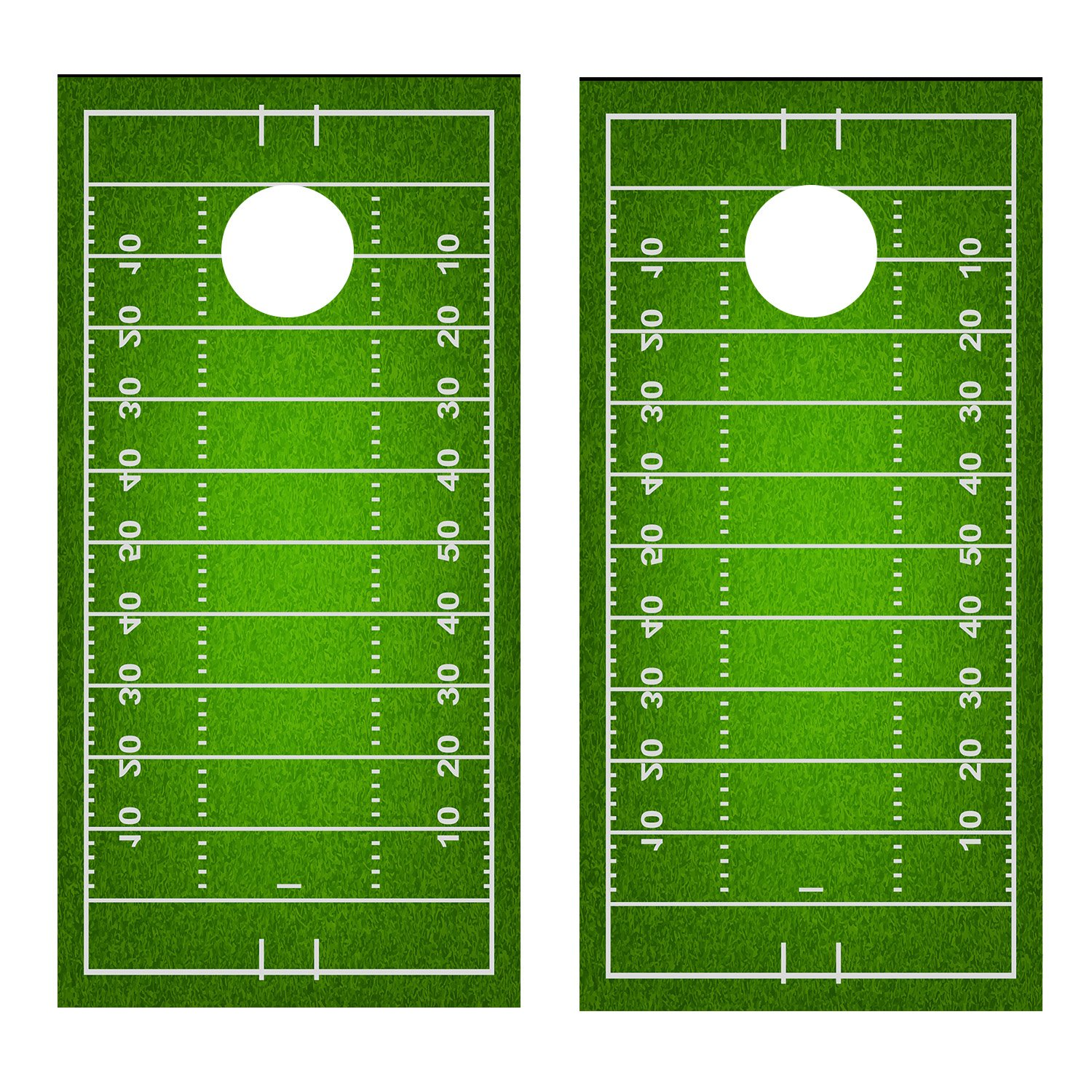 Football Field CORNHOLE DECAL WRAP SET Decals Board Boards Vinyl Sticker Stickers Bean Bag Game Wraps Vinyl Graphic Image Corn Hole (Laminated) by Lets Print Big (Image #1)
