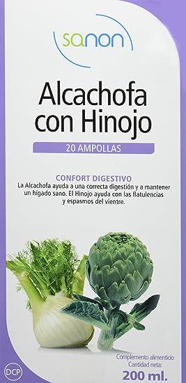 SANON Alcachofa + Hinojo 20 ampollas de 10 ml: Amazon.es: Salud y cuidado personal