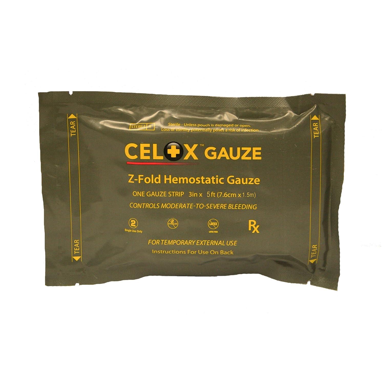 First Voice TS-Z-035 Mesh Celox Gauze Z Fold, Small, 3-Inch X 5-Feet Roll